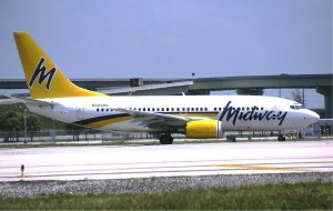 A Midway Airlines 737-700 at Ft. Lauderdale.