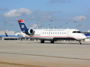 Many of the new routes will be operated by US Airways Express CRJ-200 aircraft. (Photo by the author)
