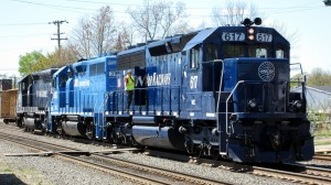 Pan Am's logo can now be seen riding the rails.