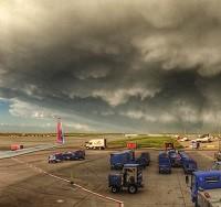 Panoramic shot of a thunderstorm near Denver Airport on June 4, 2014 (Photo: Paul Thompson, @FlyingPhotog on Twitter)