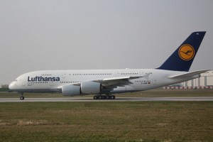 The first leg of the journey was flown on Lufthansa's A380 Dusseldorf (XFW Spotter)