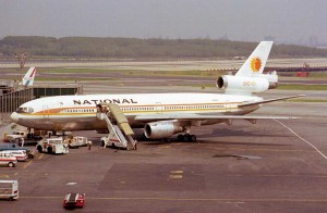 "National DC-10 parked at the gate. Instagram has yet to respond to our inquiry if this photo inspired the ""1977"" filter. (Photo by Howard Chaloner)"