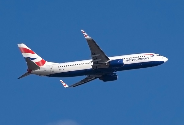 A British Airways (Operated by Comair) 737-800.