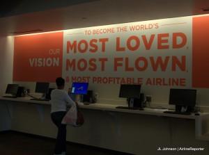 Southwest's vision. Photo courtesy JL Johnson, AirlineReporter.com