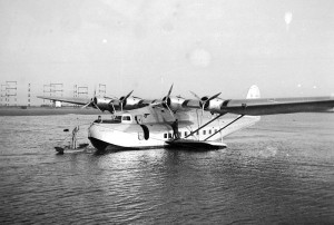 The China Clipper at Alameda in 1936. Photo by Bill Larkins via Wikimedia Commons.