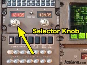 VHF Radio Frequency Selector Knob