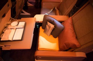 Soft product available in China Airlines' new Premium Economy.