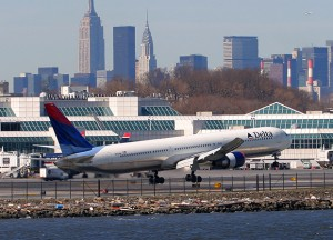 Delta's 767-400 was a lot of airplane for LGA. (Photo by Author)