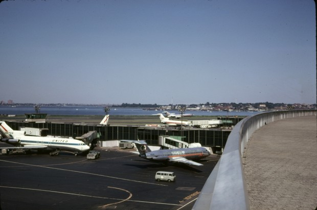 This view from the observation deck shows several of the 727s that served LaGuardia in the late 1960s. Theres even an American Airlines BAC 1-11! (Photo by Bill Armstrong)