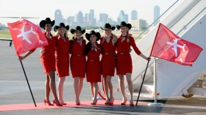 Virgin America arrived with style at DAL (Virgin America).