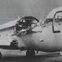In one of the most extreme examples of an explosive decompression, this Aloha Airlines 737 lost a large section of the fuselage. Image courtesy the NTSB.