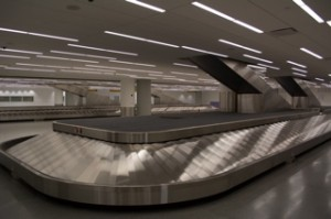 The pair of new baggage carousels inside T5i's FIS. Photo courtesy Jason Rabinowitz