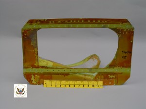 A damaged fuselage panel from the decompression of Southwest Airlines Flight 2294. Photo courtesy the NTSB.