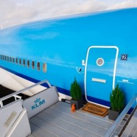 """Front door"" to the KLM's jet apartment"