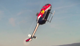 Screen shot of Chuck Aaron, Red Bull Aerobatic Helicopter Pilot