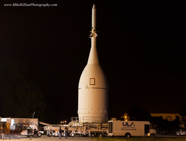 Orion's move to Launch Complex-37. Credit: Mike Killian