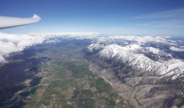 Another amazing photo by Gordon Boettger, from 26,000 feet over the Carson Valley, during a glider wave flight