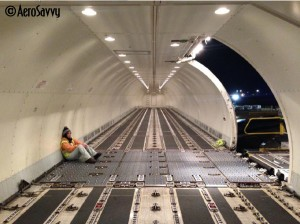 Boeing 767-300 shown in cargo configuration. (Photo by the author)