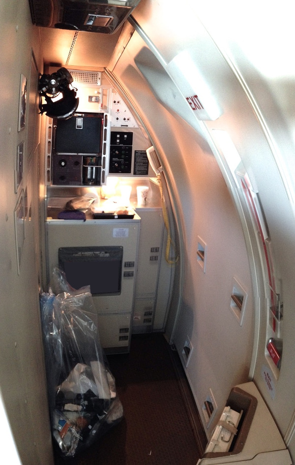 Crew entry door and galley. (Photo by the author) & Flying in Cargo Class: The Anatomy of an Air Freighter ...
