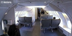 Jumpseat configuration on a 747-400BCF (Boeing Converted Freighter). (Photo by the author)