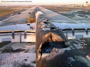 This aircraft is toast, and everyone survived.