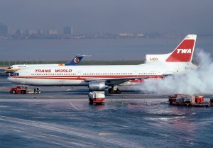 A smokey December start for these Rolls Royce RB-211 engines. (Photo by Howard Chaloner)
