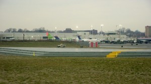 The EMAS bed at the end of LGA's runway 13.