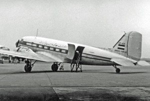 Iranian Airways Douglas C-47B (DC-3) freighter in 1954
