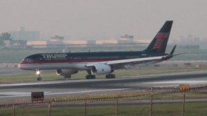 The Trump name still gets airborne on his personal 757. (Photo by Matt Molnar)