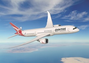 A rendering of the new Qantas 787-9 Dreamliner. Image courtesy Qantas.