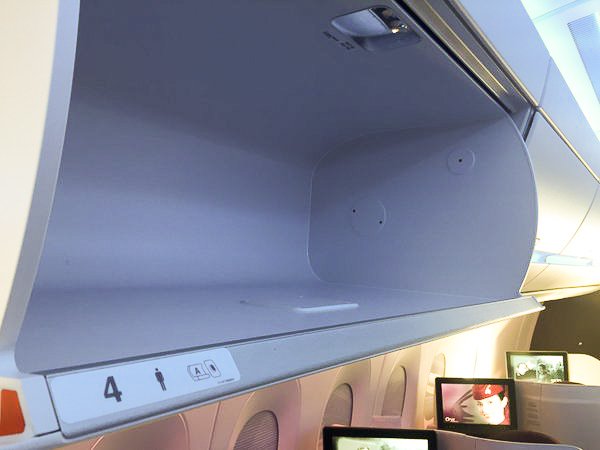 The overhead bins are large.