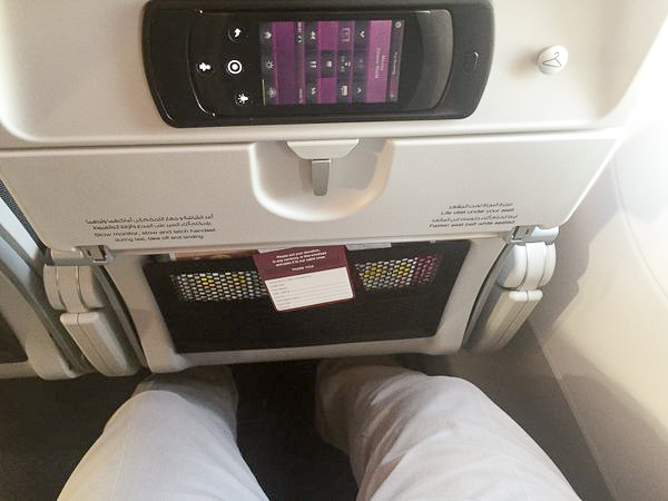 As we mentioned before, legroom was sufficient. And the seats recline in such a way that you gain knee room.
