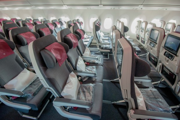 The slim seats felt comfortable and offered sufficient legroom.