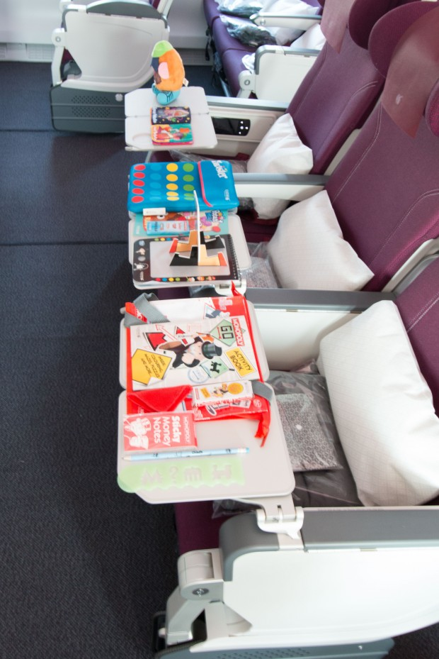 Flying with little ones? Qatar Airways has a variety of games and activities onboard to keep them occupied. And hopefully not kick your seat.