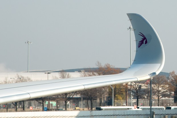The sweeping winglets of the A350 are truly a sight to behold.