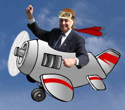 Is Senator Schumer rated to fly that?