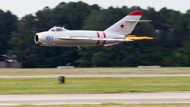 The MIG-17 put on a great show. Not only was the afterburner a great visual, Fighterjets Inc. was really chucking it around out there.