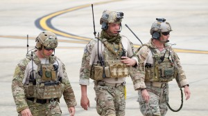 The JTAC team heads out for the Combined Forces Demonstration.