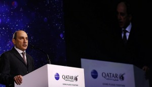 His Excellency Akbar Al Baker addressing the crowd. Photo: Qatar Airways