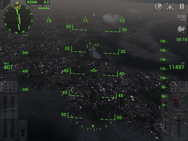 The HUD view is a lot of fun for accurate, full view flying.