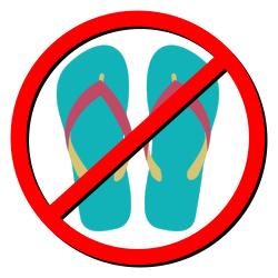 no flip-flops