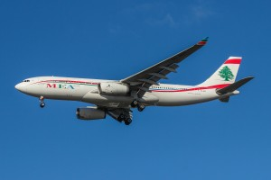 In a different year, the Lebanese delegation traveled in a Middle East Airlines A330.