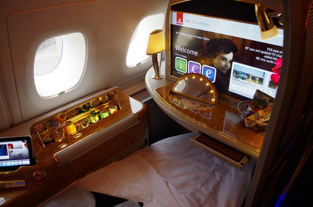 Flying in the lap of luxury.
