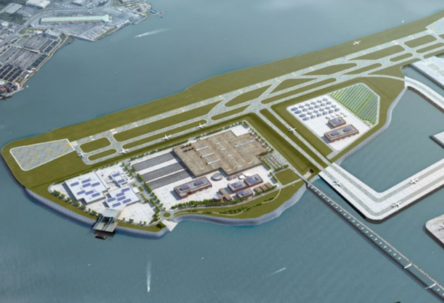 The proposed 3rd runway would lay pavement parallel to the existing runway 13/31, northeast to southeast over the East River.
