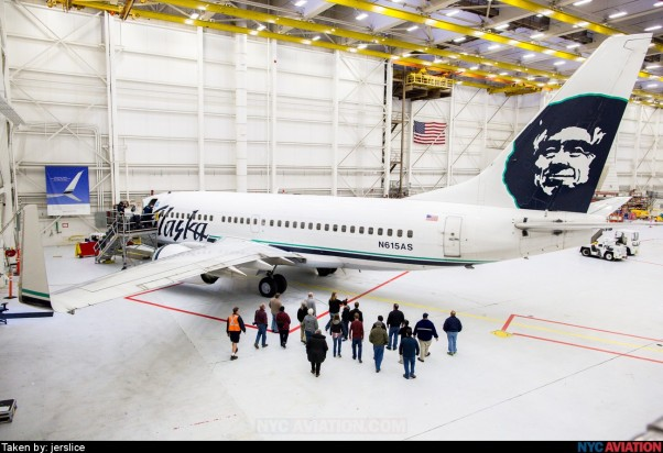 Alaska Airlines Boeing 737-700 (N615AS). Photo by jerslice, All Rights Reserved, via NYCA Photo Hangar.