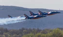 Patrouille de France takes to the skies over Stewart.
