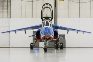 A spare Alphajet sitting in the West Point 2nd Aviation Detachment hangar at SWF.