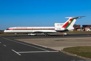 The Belarus TU-154M parked at Stewart.