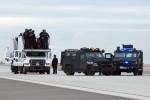 SWAT team staging.