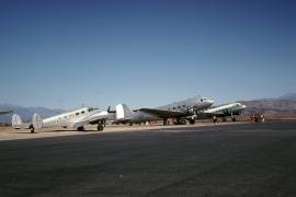 dc-3-n26ma-beech-18-n476pa-private-skydiving-perris-valley-ca-101880-wja
